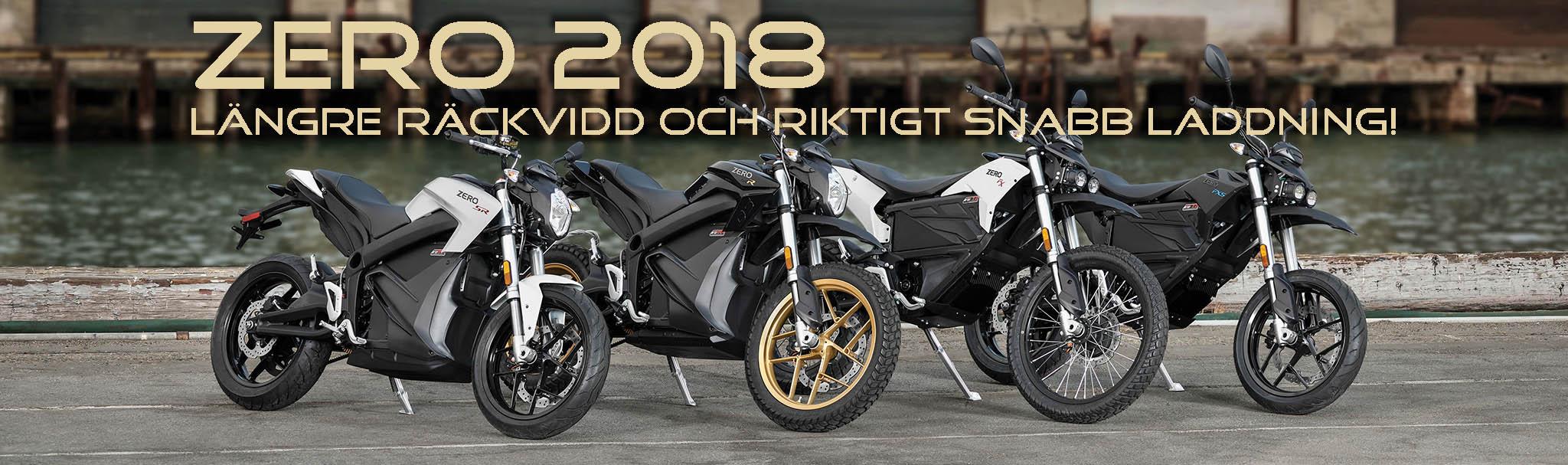 Klicka på bilden för att visa 2018 års nyheter från Zero Motorcycles.