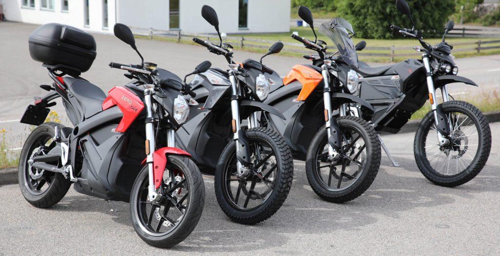 Zero SR, DSR, DS och FX samlade på Mickes Motor i Växjö. Välkommen att se, känna och provköra!