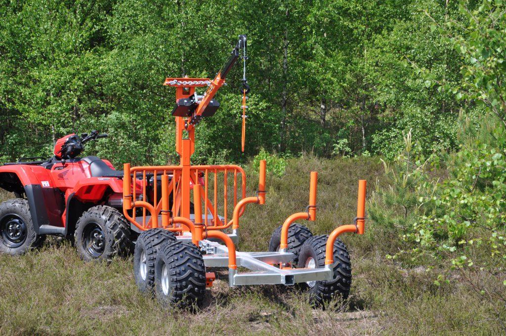 Pro-terra timmervagn LT15 med smart kran.