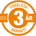 Från den 1 januari 2019 lämnar Fogelsta nu 3 års garanti på sina båttrailers.