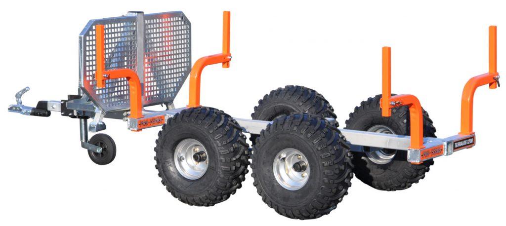 Pro-Terra TerraLog TL1200 är en 1 200 kg fyrstakars timmervagn.