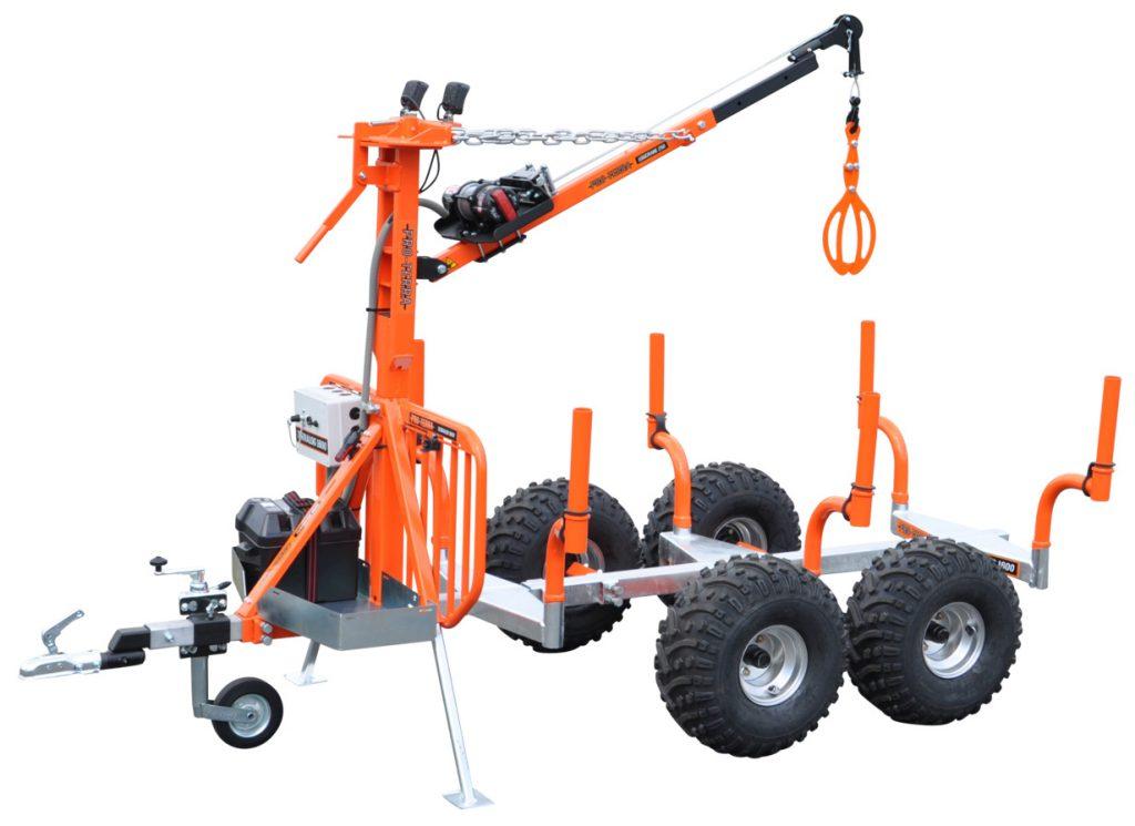 Pro-Terra TL1600BIGKIT är en komplett skogsvagn med eget elsystem.
