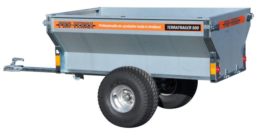Pro-Terra TerraTrailer 500 är en smidig gårdsvagn med mycket hög kvalitet och ett väldigt överkomligt pris.