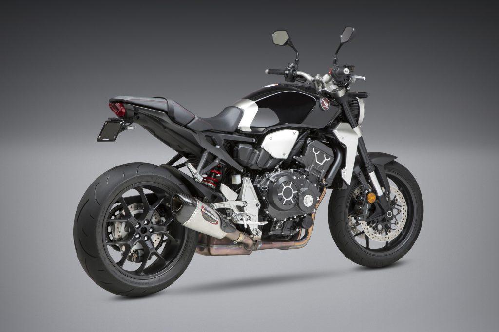 Honda CB1000R i kampanj med clean skylthållare och Yoshimura slip on på köpet.