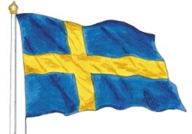 Flagga frilagd