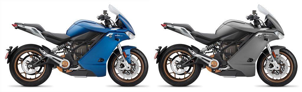 Zero SR/S ZF14.4 finns i blått och grått som 2021 års modell.